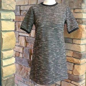 NEW Forever 21 Short Sleeve Black Tweed Dress